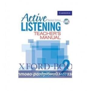 Active Listening 2 Teachers Manual with Audio CD ISBN 9780521678186