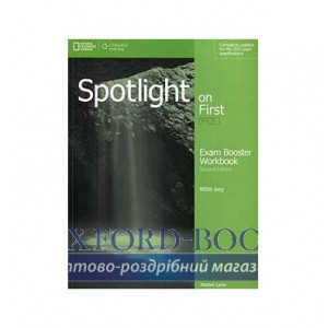 Робочий зошит Spotlight on First 2nd Edition Exam Booster Workbook with Key and Audio CDs ISBN 9781285849508