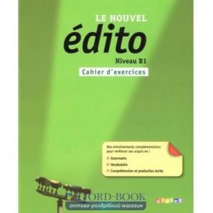 Книга Edito Le Nouvel B1 Cahier dexercices ISBN 9782278072804
