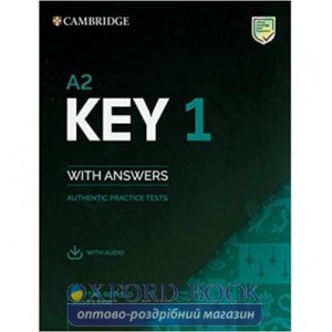 Книга Cambridge English: Key 1 for the Revised 2020 Exam Authentic Examination Papers from Cambridge ESOL with answers and Audio