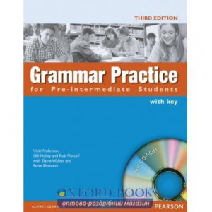 Grammar Practice for Pre-Interm with key with CD ISBN 9781405852968