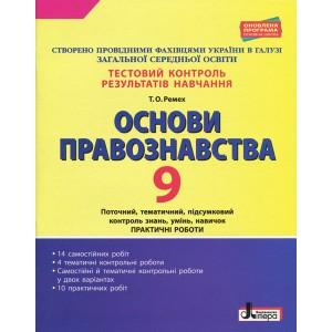 Тестовий контроль результатів навчання Основи правознавста 9 клас Ремех Т.О.