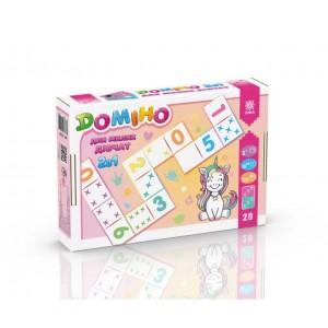 Гра Доміно 2в1 для милих дівчат