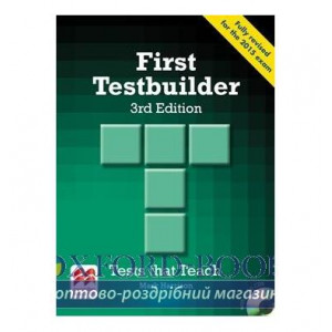 Тести First Testbuilder 3rd Edition without key with Audio CDs ISBN 9780230476127