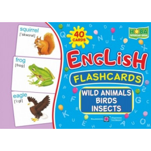 English flashcards Wild animals, birds, insects