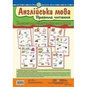 Англійська мова Правила читання Комплект наочності для початкового навчання НУШ