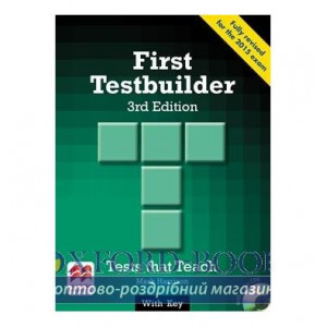 Тести First Testbuilder 3rd Edition with key and Audio CDs ISBN 9780230476110