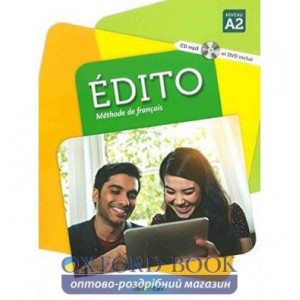 Книга Edito A2 Livre eleve + DVD-Rom (audio et video) ISBN 9782278083190