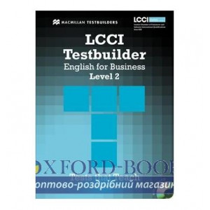 Тести LCCI English for Business Level 2 Testbuilder with key and Audio CD ISBN 9780230733893