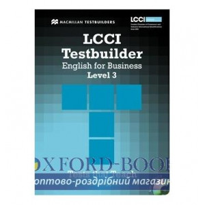 Тести LCCI English for Business Level 3 Testbuilder with key and Audio CD ISBN 9780230733923