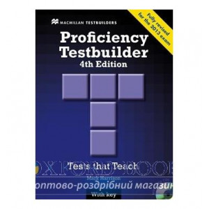 Тести Proficiency Testbuilder 4th Edition with key and Audio CDs ISBN 9780230436923