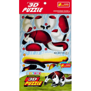 3119-03 Іграшки 3D-пазли Ящір (4в1)
