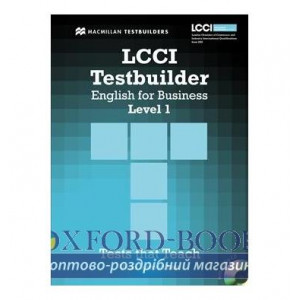 Тести LCCI English for Business Level 1 Testbuilder with key and Audio CD ISBN 9780230733862