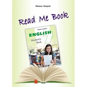 Англійська мова Карпюк 7 клас Книга для читанняRead Me Book Карпюк О.Д.