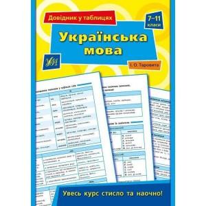 Довідник у таблицях Українська мова 7 – 11 класи Конобевська О.