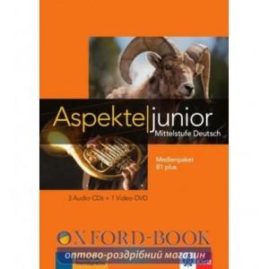 Aspekte junior Medienpaket B1+ (3 Audio-CDs + Video-DVD) ISBN 9783126052535
