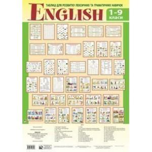 English Таблиці для розвитку лексичних та граматичних навичок 1-9 клас навчальний посібник