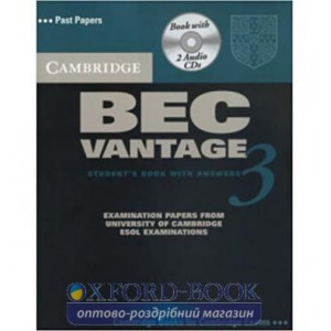 Підручник Cambridge BEC 3 Vantage Students Book with answers and Audio CDs ISBN 9780521672009