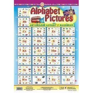 Alphabet Pictures Англійський алфавіт в малюнках Навчпосібв таблицях НУШ