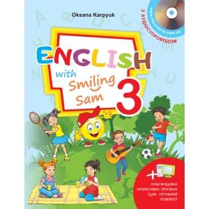 НУШ - 3 - Підручник для 3 класу English with Smiling Sam 3 + інтерактивна програма